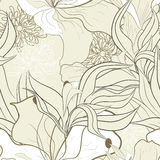 Floral seamless pattern. Universal template for greeting card, web page, background Stock Images