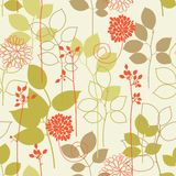 Floral seamless pattern. Floral seamless background in retro colors Royalty Free Stock Photos