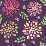 Floral seamless pattern. Flowers in blossom - vector seamless illustration vector illustration