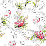 Floral seamless pattern. Universal template for greeting card, web page, background Royalty Free Stock Images