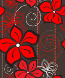Floral seamless pattern. Vector illustration of a floral seamless pattern Stock Photo