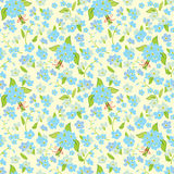 Floral seamless pattern. Abstract elegance vector illustration texture with forget-me-not Stock Illustration