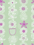 Floral seamless pattern. Floral hand-drawn seamless pattern, vector design Royalty Free Stock Photo