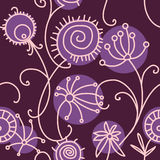 Floral seamless pattern. Floral seamless background in purple tones Royalty Free Stock Photos