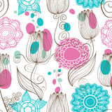 Floral seamless pattern Stock Photo