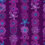 Floral seamless pattern. Floral hand-drawn seamless pattern, vector design Stock Photography