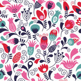 Floral seamless pattern. Seamless pattern with floral elements Royalty Free Stock Photos