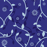Floral Seamless Pattern. Blue seamless floral pattern Stock Images