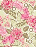 Floral seamless pattern. Retro botanical garden in  seamless pattern Royalty Free Stock Photo