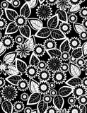 Floral seamless pattern. With styled flowers Stock Photography