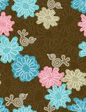 Floral seamless pattern. Floral  seamless pattern in trendy colour palette (vector Stock Photo
