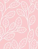 Floral seamless pattern. With styled leaves Royalty Free Stock Image