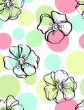 Floral seamless pattern. With styled flowers Stock Photos