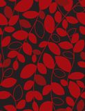 Floral seamless pattern. With leaves Royalty Free Stock Photo