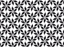 Floral seamless pattern. Twisted leaves or flowers with six petals clockwise or counterclockwise ordered in a vertical rows. Seamless texture or background Royalty Free Stock Image