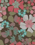 Floral seamless pattern. With styled flowers Royalty Free Stock Photography