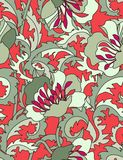Floral seamless pattern. Seamless pattern in gypsy look Royalty Free Stock Image