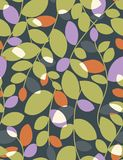 Floral seamless pattern. With styled leaves Stock Images