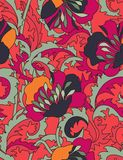 Floral seamless pattern. In gipsy look Stock Images