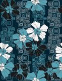 Floral seamless pattern. With styled flowers Stock Images
