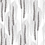 Floral seamless pattern with abstract ears of grain. Royalty Free Stock Image
