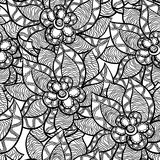 Floral seamless pattern with abstract hand drawn Royalty Free Stock Photos