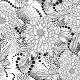 Floral seamless pattern. Abstract ornamental flower background Stock Photography