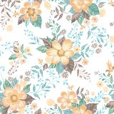 Floral seamless pattern. Abstract ornamental flowers background. Floral seamless pattern. Flower background. Abstract ornamental flourish wallpaper with flowers Royalty Free Stock Photos