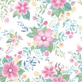 Floral seamless pattern. Abstract ornamental flowers. Flourish d. Floral seamless pattern. Flower background. Flourish ornamental summer wallpaper with flowers Royalty Free Stock Photos