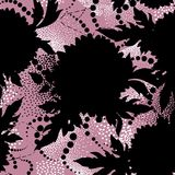 Floral seamless pattern. Abstract ornamental flower background Stock Photos