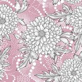 Floral seamless pattern. Abstract ornamental flower background Royalty Free Stock Photography