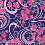 Floral seamless pattern. Abstract ornamental flowers. Floral seamless pattern. Flower background. Flourish ornamental summer wallpaper with flowers Royalty Free Stock Photo