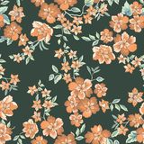 Floral seamless pattern. Abstract ornamental flowers. Floral seamless pattern. Flower background. Flourish ornamental summer wallpaper with flowers Stock Images