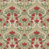Floral seamless  pattern  in art nouveau style, vector Stock Image