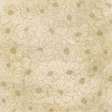 Floral seamless pattern in autumn colors Royalty Free Stock Image