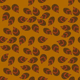 Floral seamless pattern with autumn leaves Stock Image