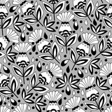 Floral seamless pattern background. Stock Photo