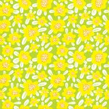 Floral seamless pattern. Background with cute abstract flowers a royalty free illustration
