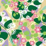 Floral seamless pattern. Background with cute abstract flowers a stock illustration