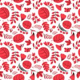 Floral seamless pattern. Background with flowers and leaves. Vec Stock Images