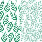 Floral Seamless Pattern Background. Seamless floral/leaf background with simple design Stock Illustration