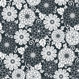 Floral seamless pattern background. Ornament stylized flowers Royalty Free Stock Photography