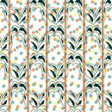 Floral seamless pattern background. Ornament of stylized leaves Stock Photos