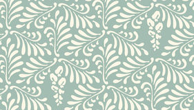 Floral seamless pattern background. Ornament of stylized leaves, flowers Stock Images