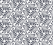 Floral seamless pattern background. Ornament of stylized leaves Royalty Free Stock Image