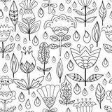 Floral seamless pattern background. Stock Photos