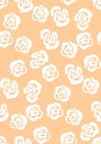 Floral seamless pattern background with roses and leaves. Trendy freehand drawing illustration Stock Images