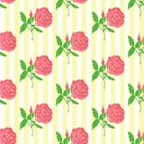 Floral seamless pattern. Background of roses Stock Images