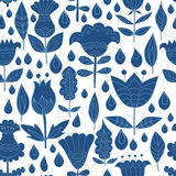 Floral seamless pattern background. Vector floral design, floral seamless pattern. Vector background with leafs and flowers. Floral, retro, doodle, vector Royalty Free Stock Photography