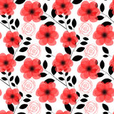 Floral Seamless Pattern Background Vector Stock Images